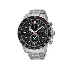SSC357P1 Ανδρικό ρολόι χειρός ηλιακής ενέργειας SEIKO Sportura με διαρκή ημερομηνία, ξυπνητήρι, χρονογράφο, ταχύμετρο, ένδειξη ισχύς ΤΣΑΛΔΑΡΗΣ Χαλάνδρι #Seiko #sportura #μαυρο #μπρασελε #ρολοι