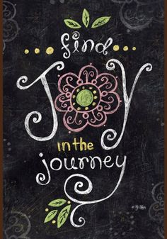 Toland Home Garden Joy in The Journey Chalkboard 28 x 40-Inch Decorative USA-Produced Double-Sided House Flag