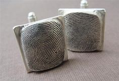 Fingerprint Cuff Links
