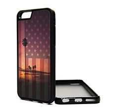 Apple iPhone 6 Case USA Flag California Sunset Beach - iPhone 6 Case - Design Cover Skin BLACK RUBBER SILICONE TPU Teen Girls Gift Vintage Fashion Art Print Cell Phone Accessories MNTHINGS http://www.amazon.com/dp/B00P07IUPA/ref=cm_sw_r_pi_dp_X9Suub0SSCGE7