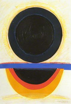 Terry Frost ~ Blue Black Sun, 1986 (mixed media)