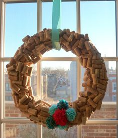 Design Improvised: Cork Wreath