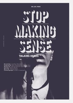 "Stop Making Sense - Jonathan Demme 1984 - DVD06112 -- ""An innovative concert movie for the rock group The Talking Heads. """