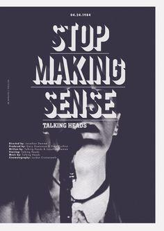 "Stop Making Sense (1984) , Talking Heads..I'm sooooooooooo addicted to this album.""slippery people"" is the best song ever!!"