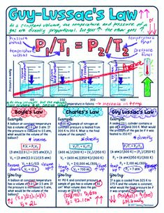 Three Gas Laws Doodle Notes - Boyle's, Charles', & Guy-Lussac's Chemistry Worksheets, High School Chemistry, Chemistry Notes, Physical Chemistry, Chemistry Lessons, Teaching Chemistry, High School Science, Gas Laws Chemistry, Physics Notes