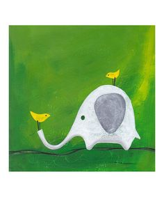 {Elephant Gallery-Wrapped Canvas by Heather B. Warriner}