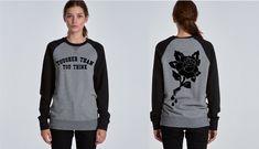 Tougher Than You Think Raglan Crew Neck Jumper – Mother Lover Shop Graphic Sweatshirt, T Shirt, Thinking Of You, Jumper, Crew Neck, Lovers, Sweatshirts, Womens Fashion, Sweaters