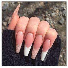 Nail Designs nail designs for fall nail designs for summer gel nail designs Aycrlic Nails, Swag Nails, Hair And Nails, White Tip Acrylic Nails, Acrylic Nail Designs, Long French Tip Nails, French Tip Acrylics, French Tips, Fire Nails
