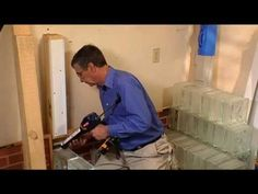 Installing Glass Block ... The Easy Way - Indoor and Outdoor How To From Home Work With Hank