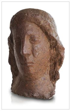 HEAD OF WOMAN 1950 by LEON INDENBAUM 1890-1981. This belarusian sculptor lives in LA RUCHE in Paris where he hosted Soutine and Modigliani. He works at Bourdelle and Maillol and participates in the movement ECOLE DE PARIS with his friends: Chagall, Zadkine, Foujita, Orloff, Rivera, Miestchaninoff ... Gets in 1968 the prestigious Wildenstein prize. One of his sculptures beats the world record for 1964 for a 20th century decorative artwork at $ 4.6M. Sculpture in terracotta 17 in. - 43 cm.