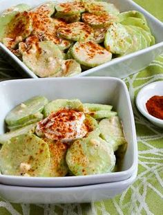 I was completely wowed by my friend Al's famous Hungarian Cucumber Salad! If you like cucumbers, this cucumber salad just might become your favorite way to eat them and the salad is low-carb, Keto, low-glycemic, South Beach Diet friendly, meatless, and gluten-free!Use theRecipes-by-Diet-Type Indexto find more recipes like this one. Click here to PIN Al's …