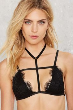 Nasty Gal Cross the Way Lace Bralette - Clothes | Bras + Bralettes | Lingerie
