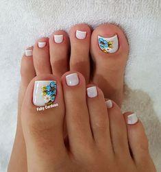 Siga no Instagram @cursofabycardoso 💅😍😘 #nail #unhas #unhasdecoradas #nailart #manicure #fabycardoso #cursodeunhasfabycardoso #fabycardosocursodeunhas #aulasdemanicure Toenail Art Designs, Toe Designs, Toe Nail Art, Toe Nails, Nail Salon Design, Manicure E Pedicure, Women's Feet, Summer Hairstyles, Wedding Nails