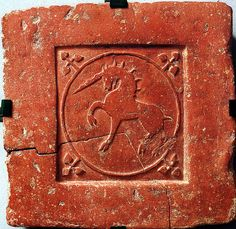 Tile Art, Mosaic Tiles, The Last Unicorn, Book Of Hours, Handmade Tiles, Medieval Art, Horse Art, Tile Patterns, Ancient Art