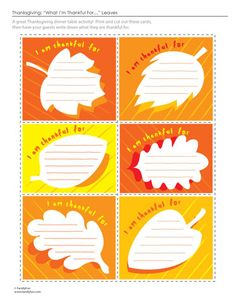 Thanksgiving printable- have residents fill out these cards, and post them on a bulletin board.