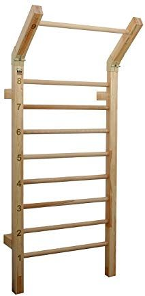 fc0b3c0e65a Pull-Up Bars · Suples Gladiator Wall - Sturdy   Solid Quality Beach Wood -  400 lb Safety Rating -