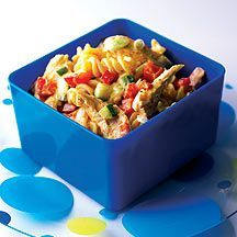 Lunchbox-Pasta mit Curry-Huhn