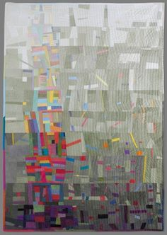 not usually a fan of abstract modern but I like this quilt.