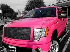 PINK pickup truck. - Love it!