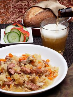 The Best Bigos Recipe -- Polish Hunter's Stew -- from Polska Foods… Polish Bigos Recipe, Polish Recipes, Polish Food, Slow Cooking, Cooking Recipes, Polish Stuffed Cabbage, Hunters Stew, Eastern European Recipes, Sauerkraut Recipes