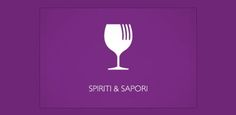 Spiriti & Sapori #logo by Stefano Rivolta, Italy for Spiriti & Sapori, a small wine bar offering spirits, wine and a small selection of dishes. The logo is a graphic fusion between a wineglass and a fork