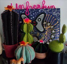 Cactus, Felt Fabric, Gifts, Handmade, Hands