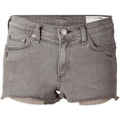 RAG & BONE Cutoff Jean Shorts ($92) ❤ liked on Polyvore featuring shorts, bottoms, pants, summer shorts, distressed shorts, short shorts, denim cutoff shorts and denim shorts