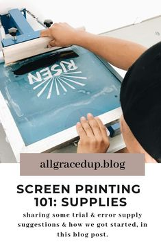 how we started screen printing. Screen Printing Paper, Screen Printing Materials, Screen Printing Supplies, Screen Printer, Stencil Printing, Successful Home Business, Start Screen, Tshirt Business, Middle School Art