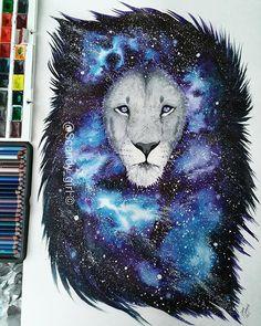 Better picture of my galaxy lion which I made for @jvallee91  hope you guys like it!  #art #artist #myart #illustration  #watercolor #watercolorpainting #lion #galaxy #WorldOfArtists  #arts_realistic #arts_gallery #instartpics #arts_help #sketch_daily  #artacademy #art_empire #artist_magazine #artsanity  #artofdrawingg  #instartlovers #creative_instaarts #artist_publicity #art_spotlight #creativempire
