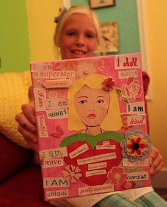 """""""i am"""" boards ... great for teaching adjectives  and character education! Can adapt this idea in so many way!"""