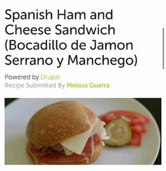 ... Cheese Sandwiches With Manchego And Jamon Serrano Recipe — Dishmaps