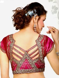 Here in this post you will find latest and beautiful 60 unique blouse back neck designs for saree. These all designs are from designer choices right now. New Saree Blouse Designs, Patch Work Blouse Designs, Simple Blouse Designs, Blouse Back Neck Designs, Blouse Pattern Free, Blouse Patterns, Neck Pattern, Latest Fashion Design, Beautiful Blouses