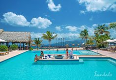 Swimming pool at Sandals LaSource on the Caribbean island of Grenada