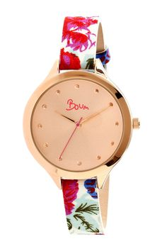Floral band watch //