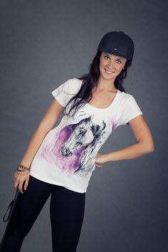 hand painted t-shirt horse