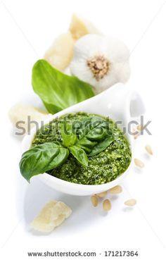 closeup of freshly made pesto
