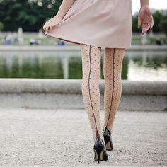 Fancy | Jive Dotty Seamed Tights by Pamela Mann