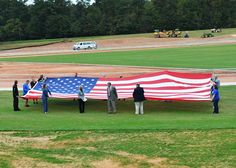 Sam's Club Store 4901 in Easley presented a 38-foot-by-20-foot United States flag and a large state flag Oct. 15 at SWU's Track and Soccer Complex, currently under development near the S.C. Highway 93 entrance in Central. http://www.swu.edu/about-swu/news/sams-club-donates-flags-to-swu/#.Ul6O29KsiSo