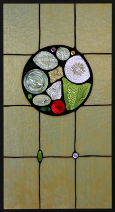 Daniel Maher Stained Glass - Cabinet Door, Private Residence, Lexington, MA