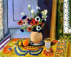 "Henri Matisse : ""anemoni in vaso di terracotta"" (1924) | @TitaBueno_ @annamariafdr  rt @lizsylvie #art"