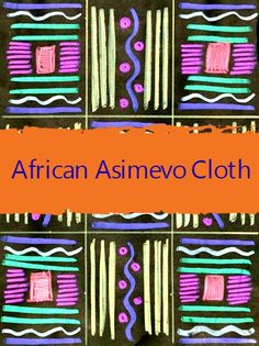 Your class can create vibrant artwork while studying African weaving patterns.