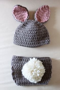 Crochet bunny hat Maybe a hat and skirt for a girl