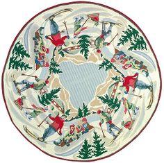 H 303a Alpine Xmas 5 Round Rug Christmas Rugs Tree Skirts