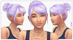 Just another version of the Leela Hair I uploaded earlier, because messy buns are my rl go-to style! Download on my Blogger!