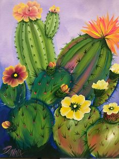 20 excellent DIY examples how to make a beautiful vertical garden . The Effective Pictures We Offer You About Cactus jardin A quality picture can tell you many things. You can find. Cactus Drawing, Cactus Painting, Cactus Art, Painting & Drawing, Cactus Plants, Cactus Decor, Desert Art, Southwest Art, Mexican Folk Art