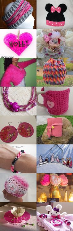 Pretty in HOT Pink by Jennifer Lacek on Etsy--Pinned with TreasuryPin.com