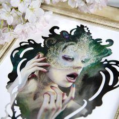 Image of 11x14 Masks I Polish In the Moonlight Ltd Print, by artist Redd Walitzki
