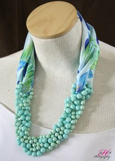 Twisting a long necklace with a scarf for added interest! Premier Designs Jewelry Collection kseal.mypremierdesigns.com