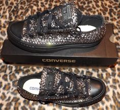 Crystal Ox All Star Converse Sparkly Luxury by BridesAndDiamonds
