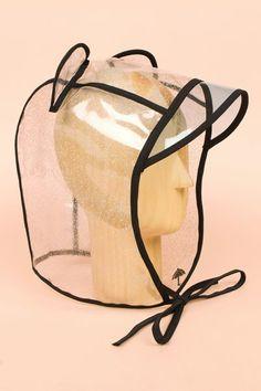 Maison Michel bear rain hat with visor Ear Jewelry, Jewelry Accessories, Rain Bonnet, Black Unicorn, Rain Hat, Headgear, Kenzo, Hats, How To Wear